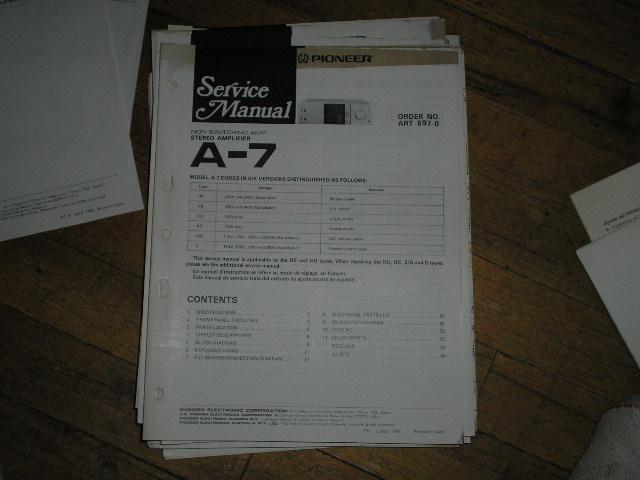 A-7 Amplifier Service Manual
