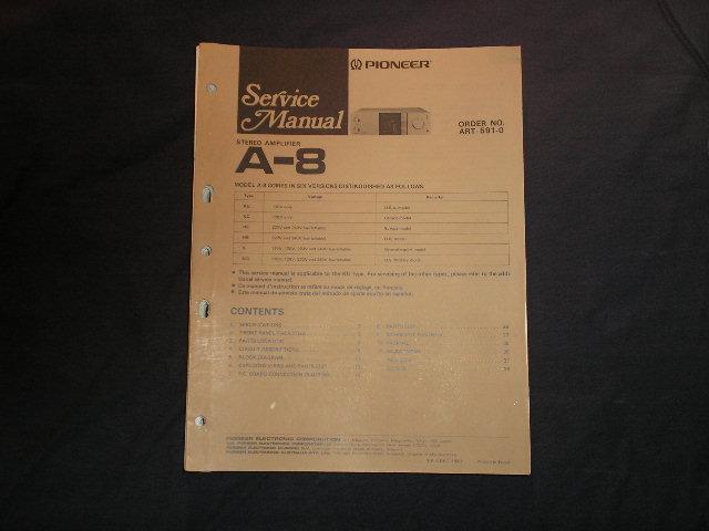 A-8 Amplifier Service Manual