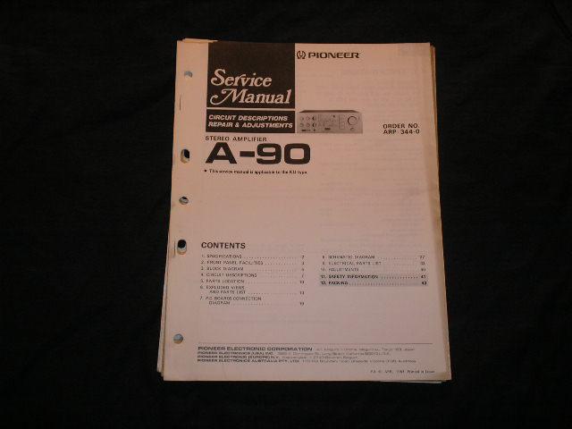 A-90 Amplifier Service Manual