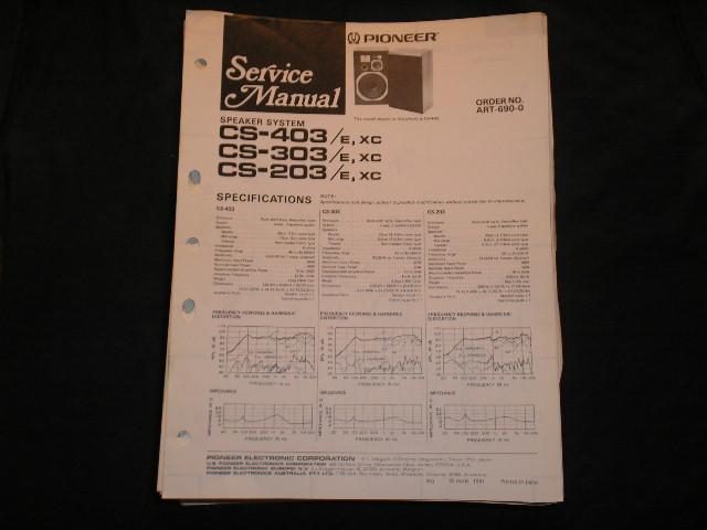 CS-0403E XC CS-303E XC CS-203E XC Speaker System Service Manual ART-690