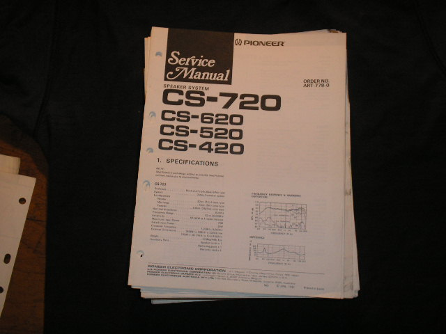 CS-420 CS-520 CS-620 CS-720 Speaker System Service Manual ART-778