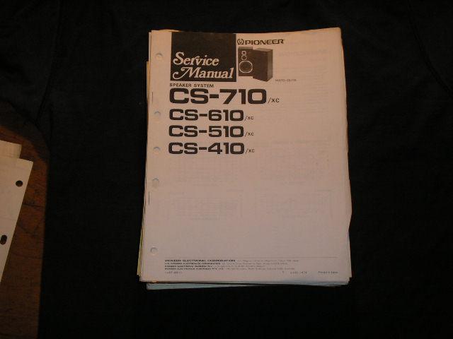 CS-710 CS-610 CS-510 SC-410  Speaker System Service Manual ART-488