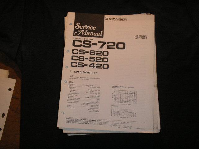 CS-720 CS-620 CS-520 CS-420 peaker System Service Manual ART-778