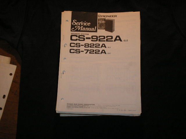 CS-822A CS-722A CS-922A Speaker System Service Manual ART-445