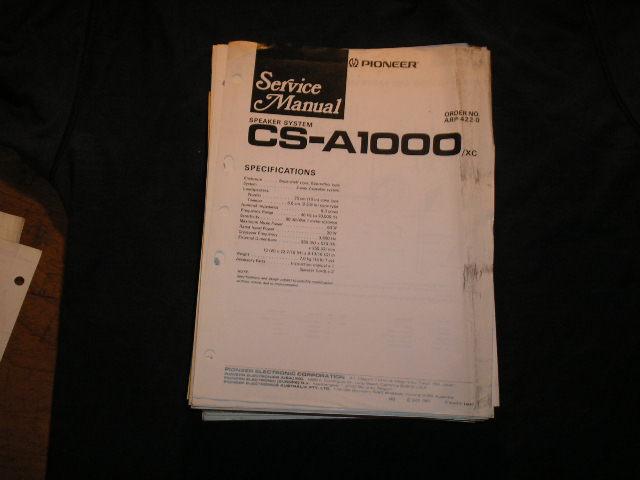 CS-A1000 Speaker System Service Manual ARP-422