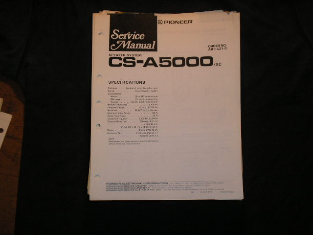 CS-A5000 Speaker System Service Manual ARP-421