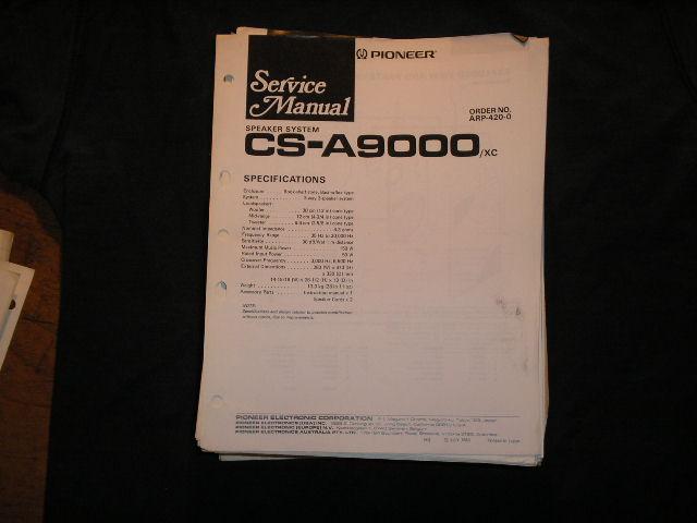 CS-A9000 Speaker System Service Manual ARP-420
