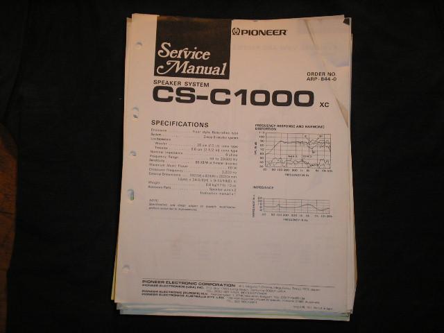 CS-C1000 Speaker System Service Manual ARP-844