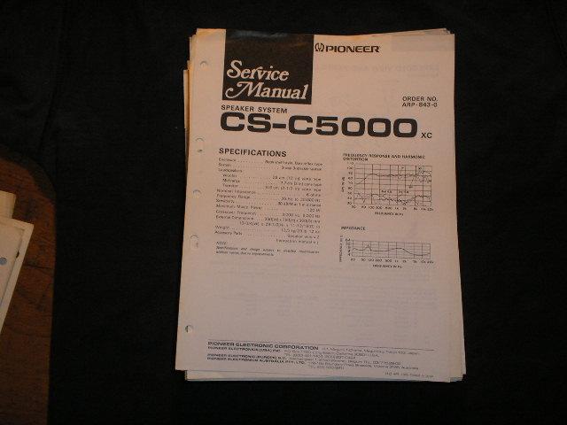 CS-C5000 Speaker System Service Manual ARP-843