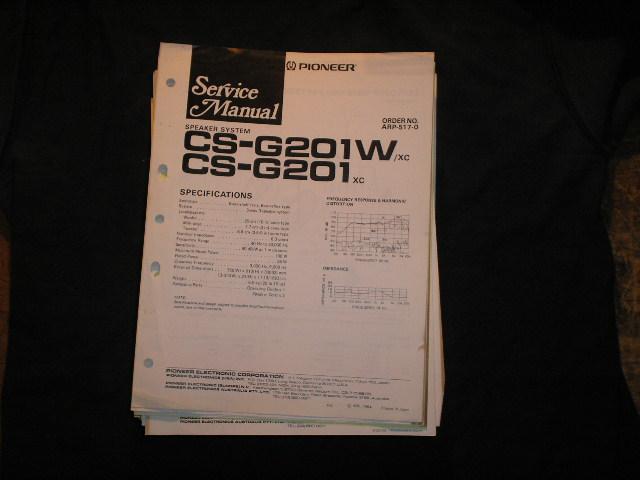 CS-G201W CS-G201 Speaker System Service Manual ARP-517