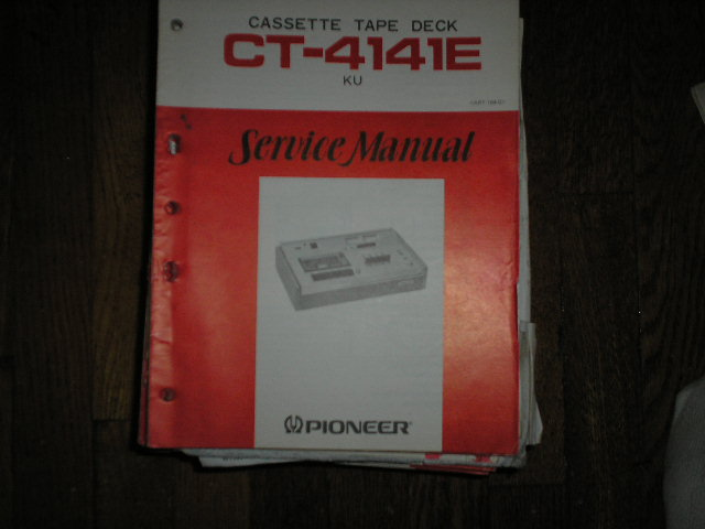 CT-4141E Cassette Deck   Service Manual     ART-169