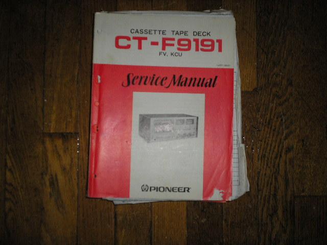 CT-F9191 Cassette Deck Service Manual     ART-138