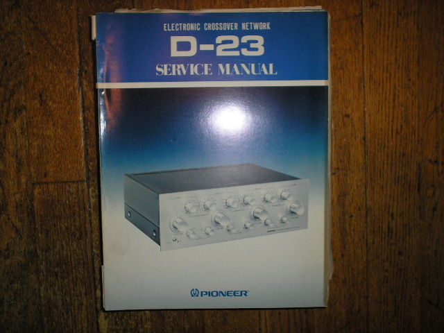 D-23 Electronic Crossover Network Service Manual