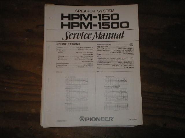 HPM-150 HPM-1500 Speaker System Service Manual ART-237