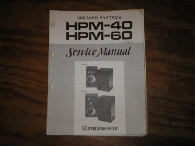 HPM-40 HPM-60 Speaker System Service Manual ART-164