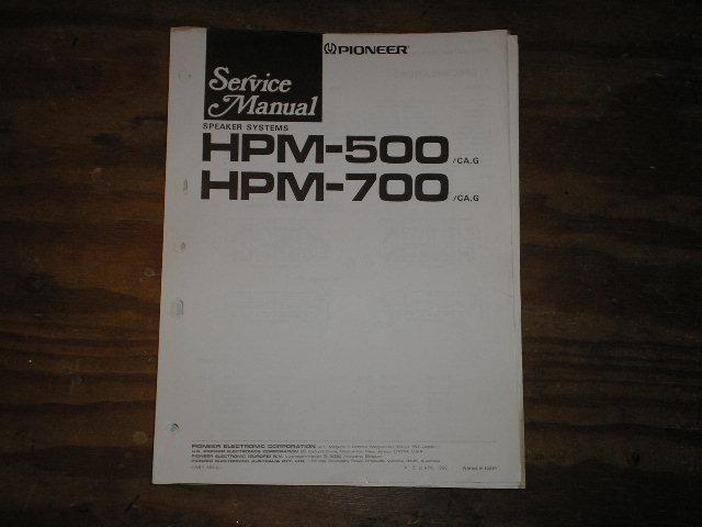 HPM-500 HPM-700 Speaker System Service Manual ART-562