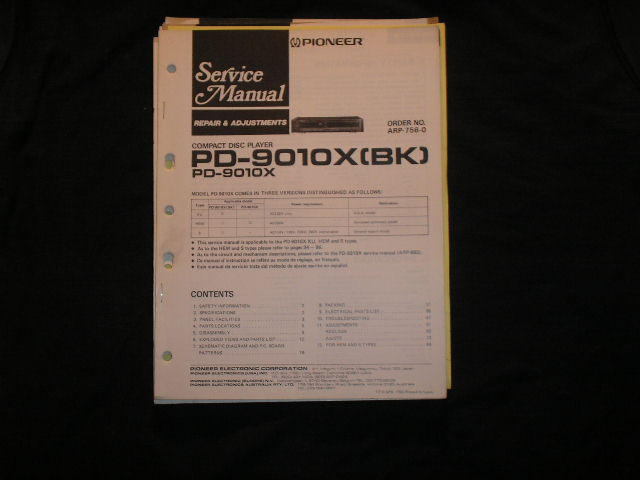 PD-9010X PD-9010X BK CD Player Service Manual