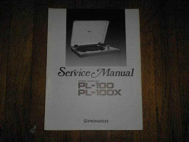 PL-100 PL-100X Turntable Service Manual  ART-513-0