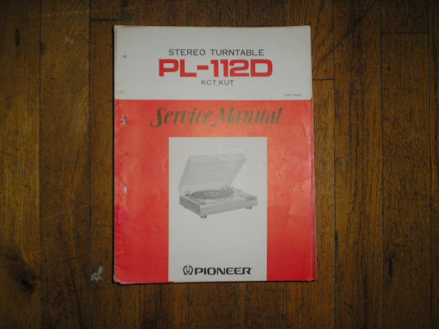 PL-112D KUT KCT Turntable Service Manual  ART-164-0