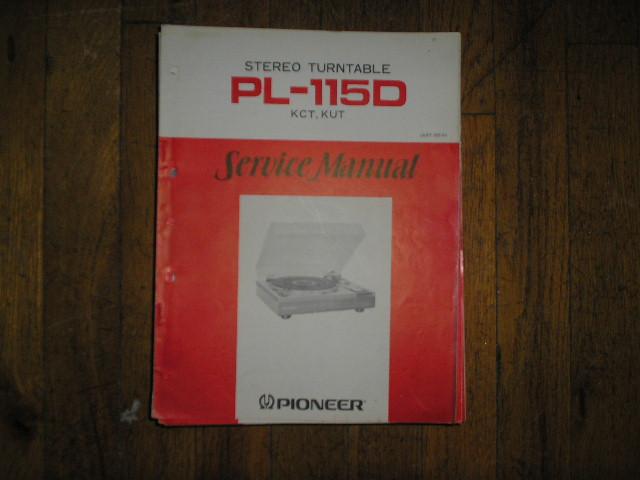 PL-115D KUT KCT Turntable Service Manual  ART-165-0