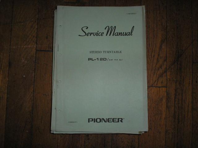 PL-12D NBT PVT KLT  Turntable Service Manual  R42-295-0