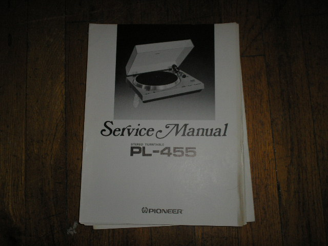 PL-455 Turntable Service Manual  ART-400-0