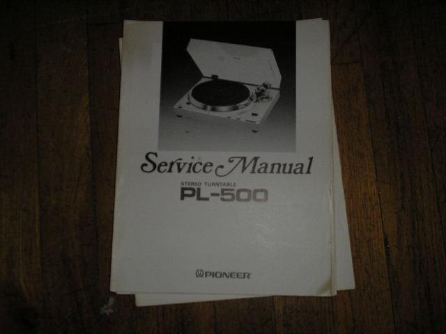 PL-500 Turntable Service Manual  ART-397-0