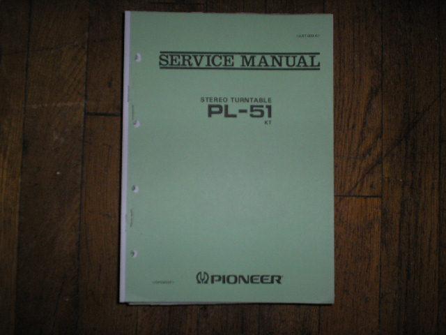 PL-51 PL-51 KT Turntable Service Manual  ART-009-A