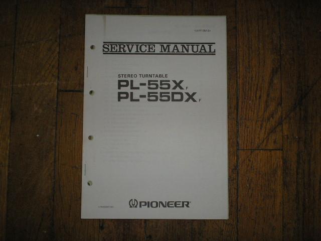 PL-55X F PL-55DX F Turntable Service Manual  ART-082-0