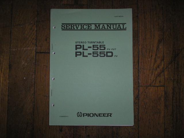 PL-55 FV FVT PL-55D FV Turntable Service Manual  ART-013-0
