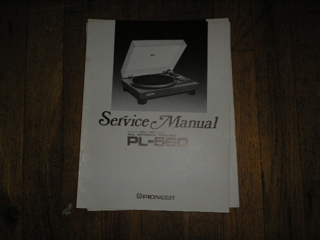 PL-560 Turntable Service Manual  ART-325-0