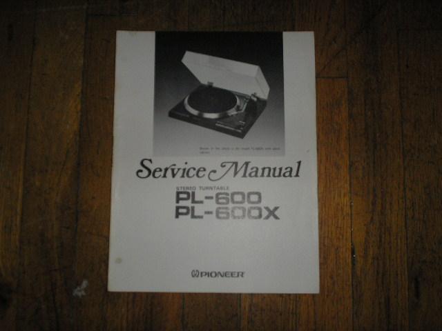 PL-600 PL-600X Turntable Service Manual  ART-385-0