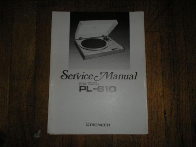 PL-610 Turntable Service Manual  ART-326-0