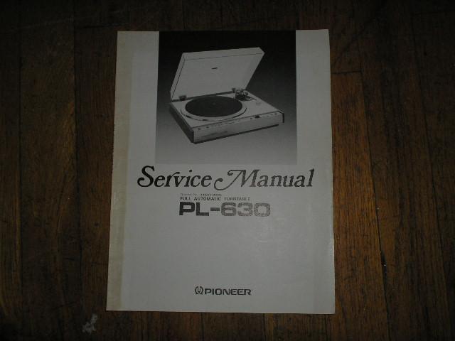PL-630 Turntable Service Manual  ART-314-0
