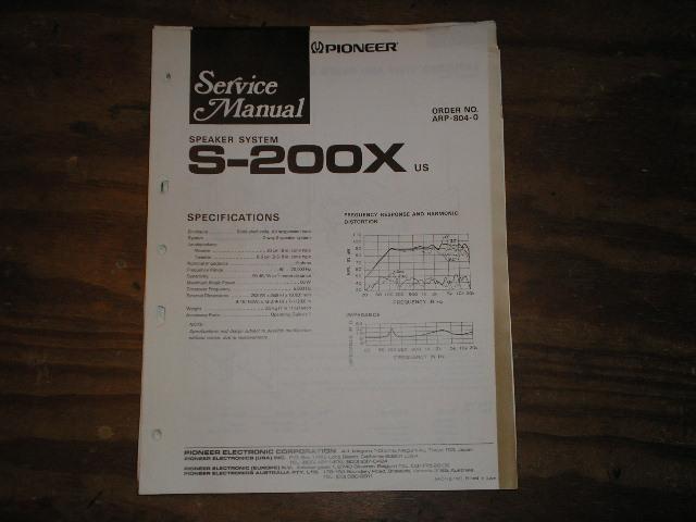 S-200X Speaker System Service Manual ARP-904