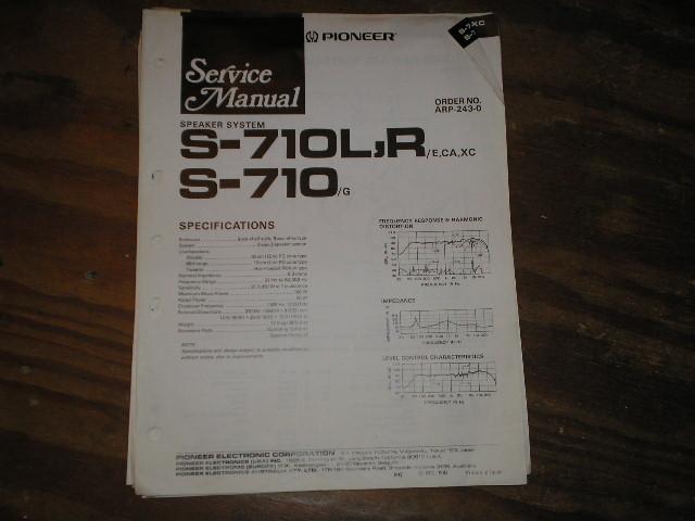 S-710 S-710L S-710G Speaker System Service Manual ARP-243