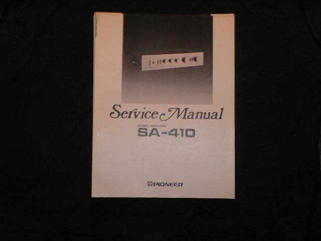 SA-410 Amplifier Service Manual