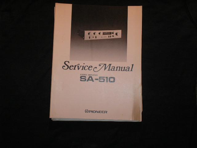 SA-510 Amplifier Service Manual