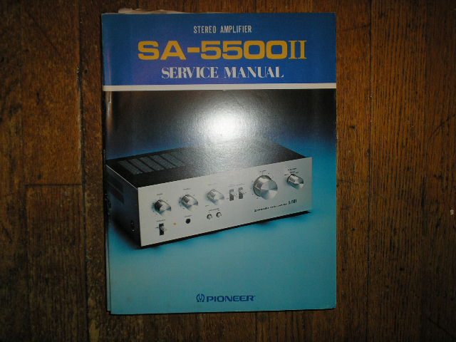 SA-5500 II Stereo Amplifier Blue Service Manual