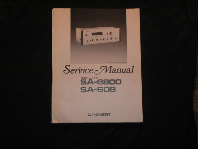 SA-608 SA-6800 Amplifier Service Manual