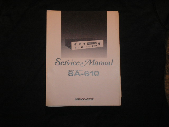 SA-610 Amplifier Service Manual