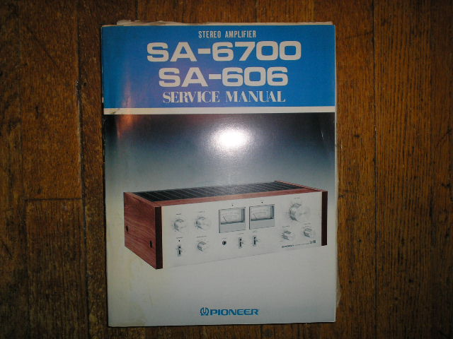 SA-6700 SA-606 Stereo Amplifier Blue Service Manual