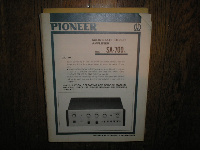 SA-700 SA-700F Stereo Amplifier Service Manual