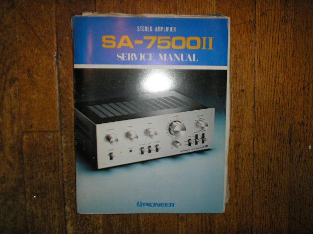 SA-7500 II Stereo Amplifier Blue Service Manual