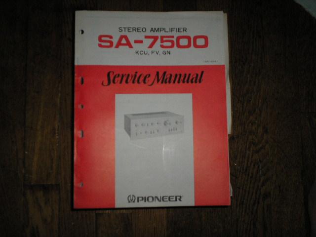 SA-7500 Amplifier Service Manual     ART-121