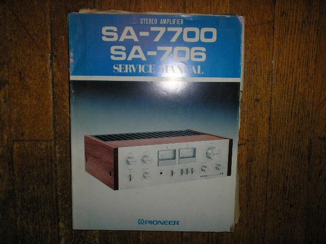 SA-7700 SA-706 Stereo Amplifier Service Manual