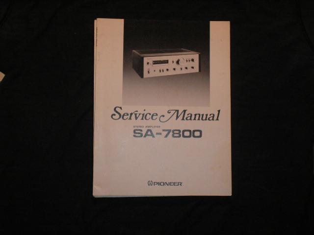SA-7800 Amplifier Service Manual