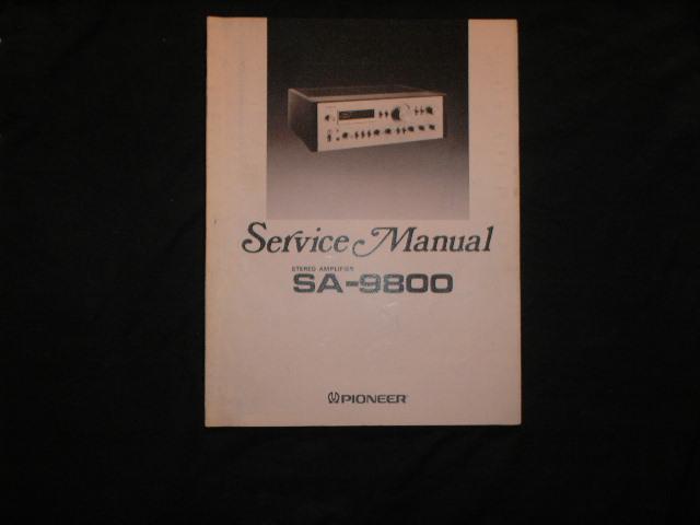 SA-9800 Amplifier Service Manual