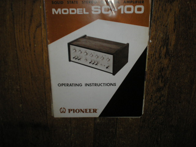 SC-100 Stereo Amplifier Operating Manual with Schematic
