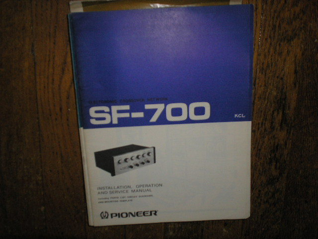 SF-700 KCL Electronic Crossover Network Service  Manual